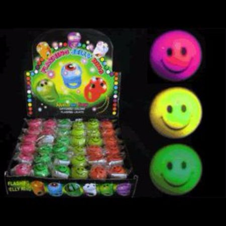 Flashing Soft Smiley Face Rings Pack of - Flashing Smiley