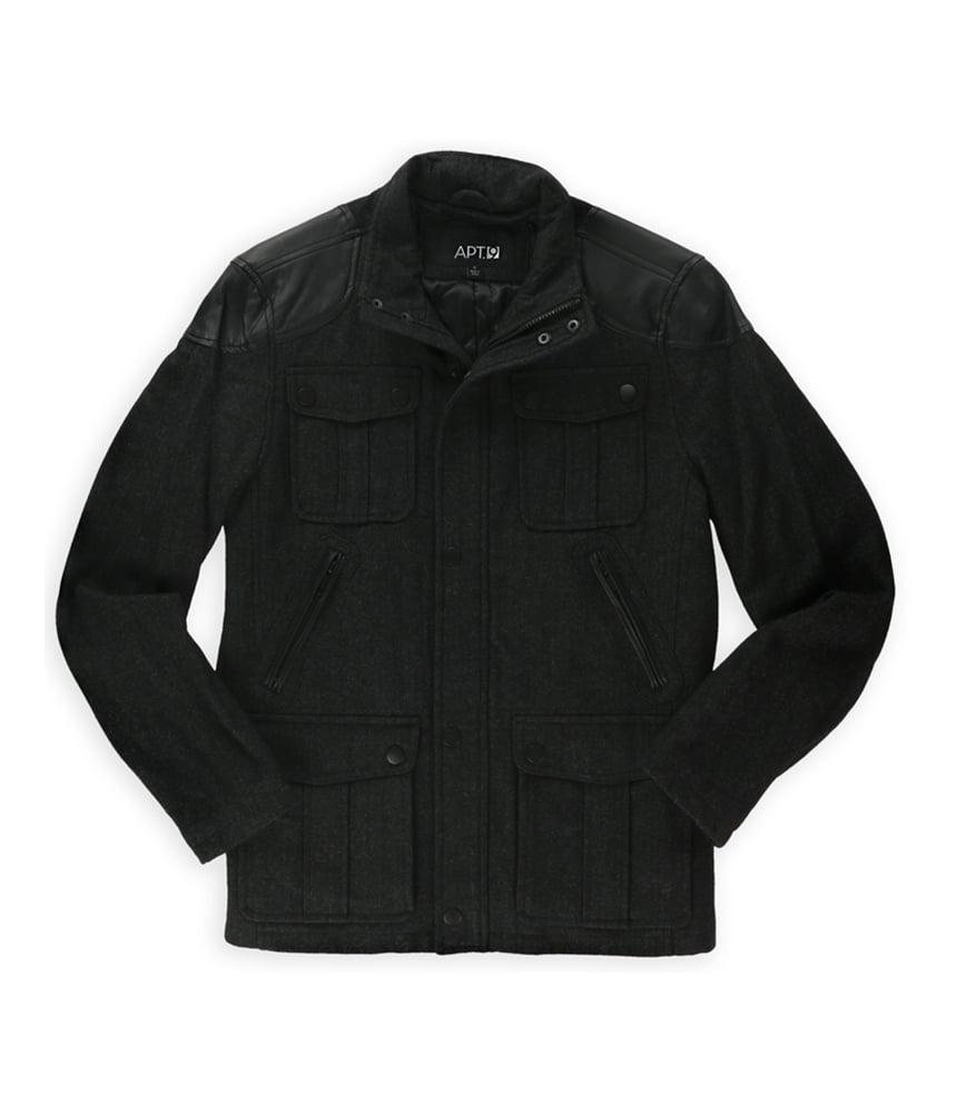 Apt. 9 Mens Wool Blend Herringbone Pea Coat by