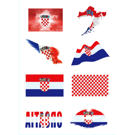 Mosunx Russia 2018 Football Game National Flag Tattoo Sticker Temporary Face Decor (Face Paint For Football Games)