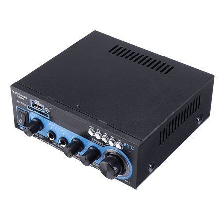 Audio Speaker Power Amplifier Home/Car Mini HIFI digital Bluetooth audio power amplifier With Remote Control Function7.x6x2'' - image 2 of 6