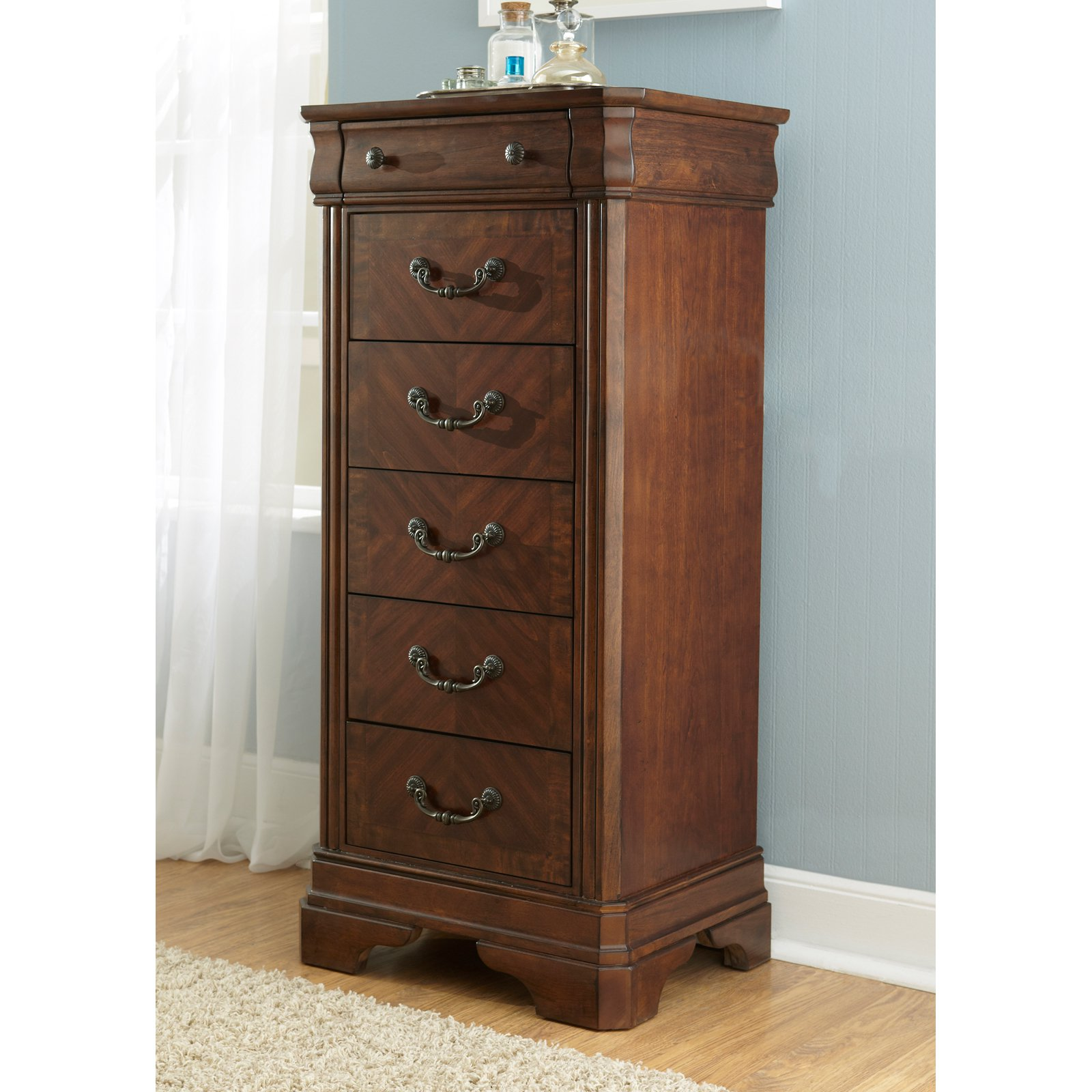 Liberty Furniture Alexandria 6 Drawer Lingerie Chest - Autumn Brown