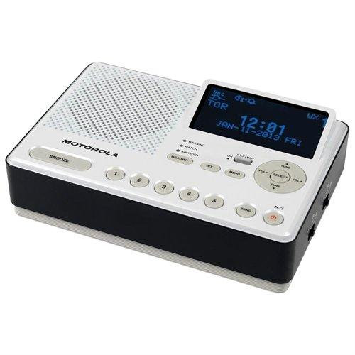 Motorola MWR839 Mwr839 Weather Radio Same Perp Am/fm Clock Aa Batt B/u