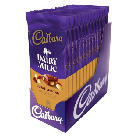 Cadbury, Roasted Almond Milk Chocolate Candy Bar, 3.5 Oz, 14