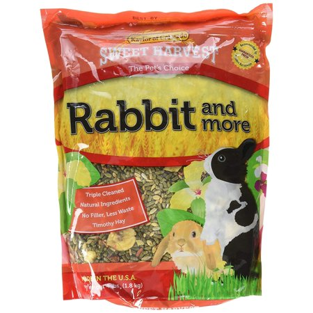 Rabbit Food, Premium Timothy Hay Pellets with Added Specialty Ingredients, 4 lbs Bag, 4-lb bag By Sweet (50 Lb Bag Of Guinea Pig Food)