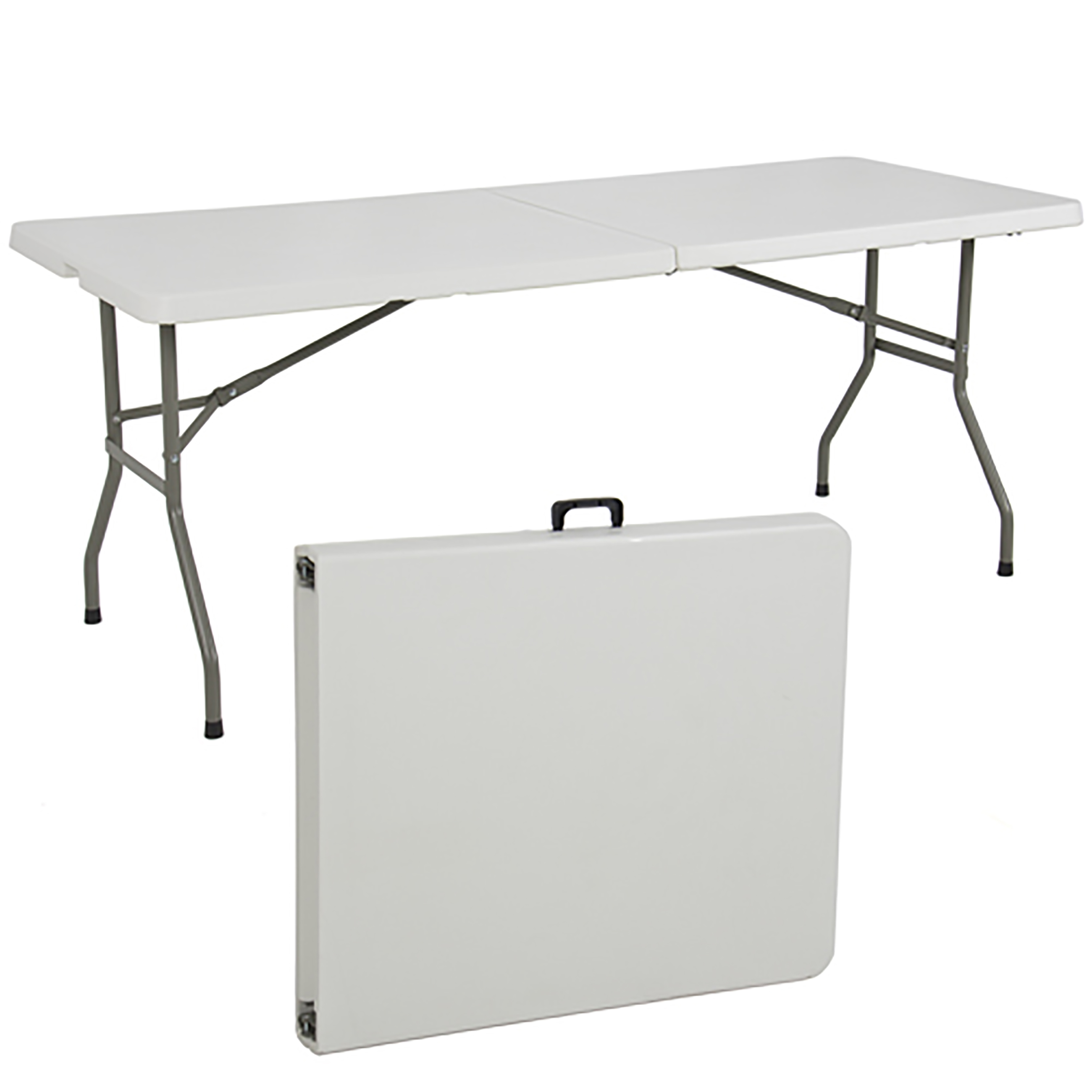 Outdoor Folding Portable Plastic Picnic Party Dining Camp Table w  Handle by Best Choice Products