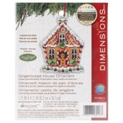 "Susan Winget Gingerbread House Counted Cross-Stitch Kit, 3-1/4"" x 4-1/4"""