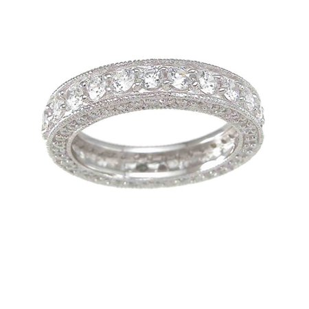 - LaRaso Co CZ Wedding Band Eternity Anniversary Ring for Women