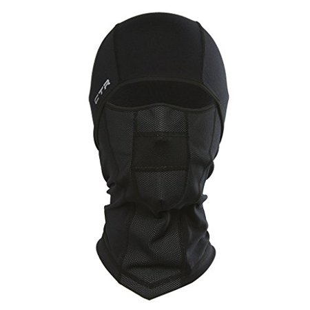 Chaos Ctr Adrenaline Dri Release Multi Tasker Pro Balaclava With Windproof Face Insert And Hinged Construction  Black  Large X Large