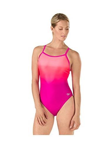 Speedo Women's Powerflex Eco Ombre Flyback One Piece Swimsuit, Blue, Size 6 32 by Speedo Men's and Women's Swimwear