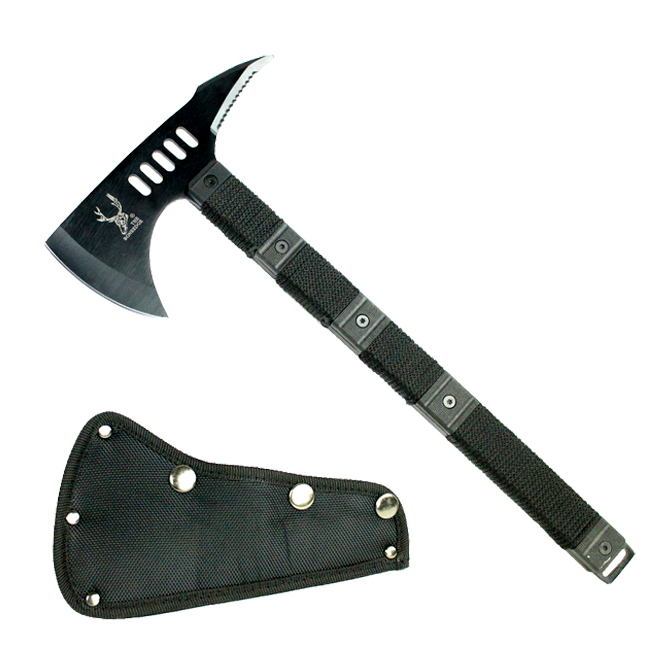 "14.5"" The Bone Edge Tactical Survival Axe with Sheath Black Hatchet"