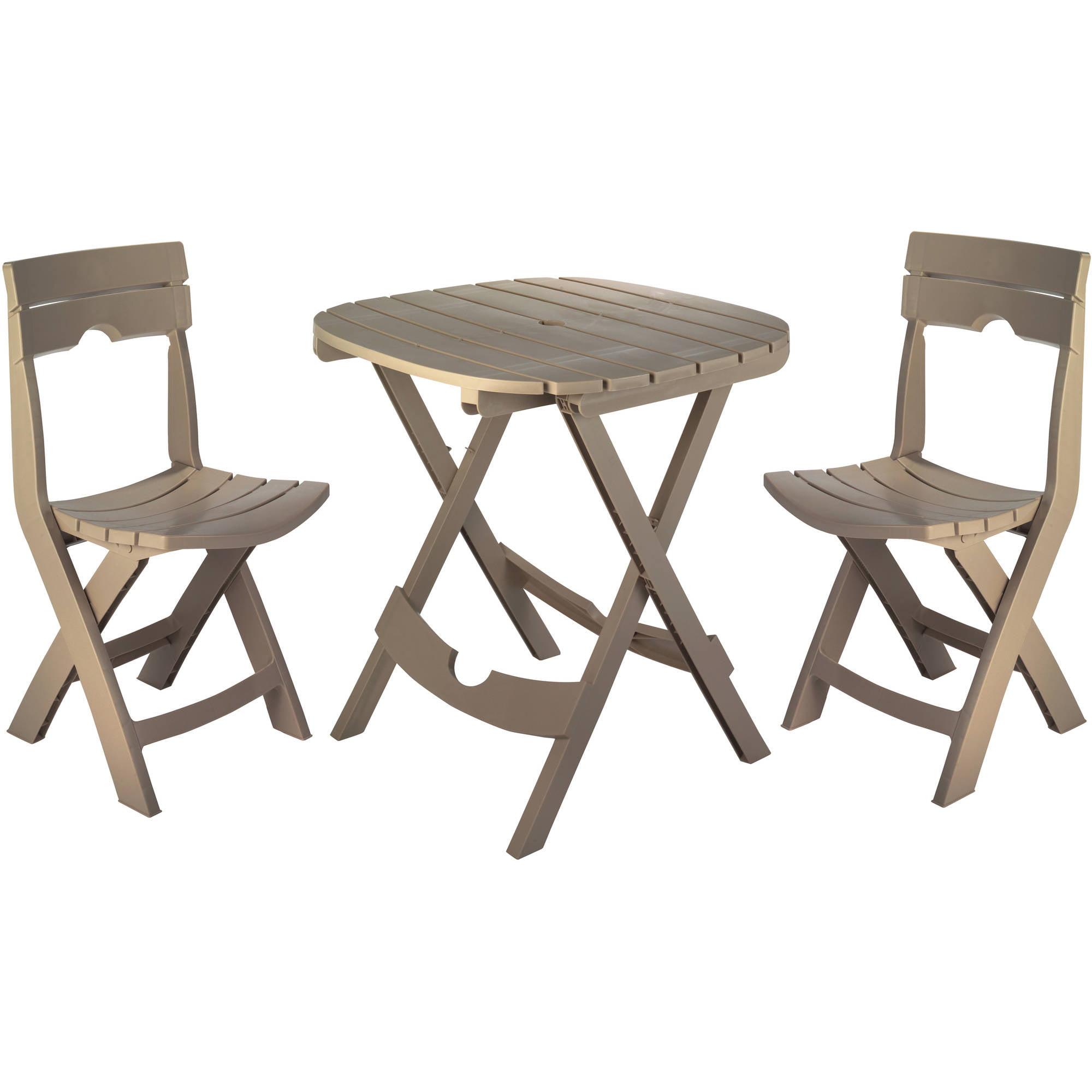 Image of Adams Manufacturing Resin Quik-Fold Cafe Set, Portobello