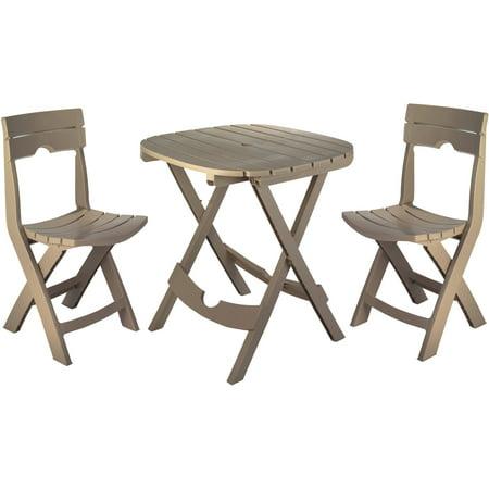 Adams Manufacturing Resin Quik-Fold Cafe Set, (Adams Manufacturing Quik Fold Cafe Bistro Set)