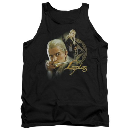 The Lord of The Rings Movie Legolas Stare with Bow Adult Tank Top (Legolas Lothlorien Bow)