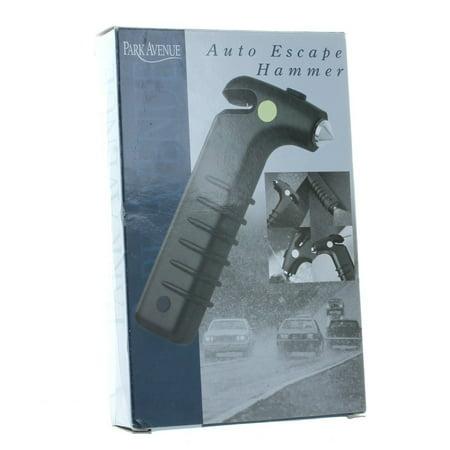 Auto Escape Hammer Rescue Tool Survival Gear Black, Measures 6 1/4