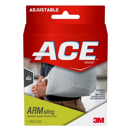 ACE Brand Arm Sling, Adjustable Padded Shoulder Strap, Gray