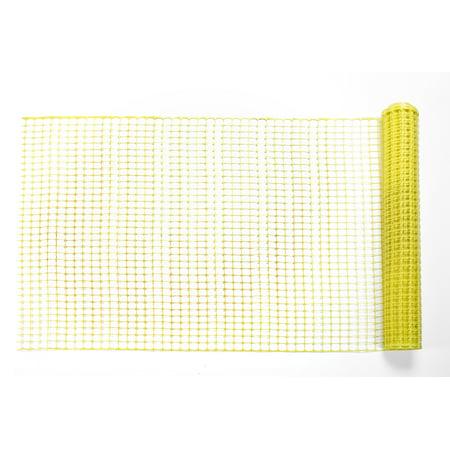 High Density Polyethylene (HDPE) Diamond Link Safety Fence, 50 ft. Length x 4 ft. Width, Yellow