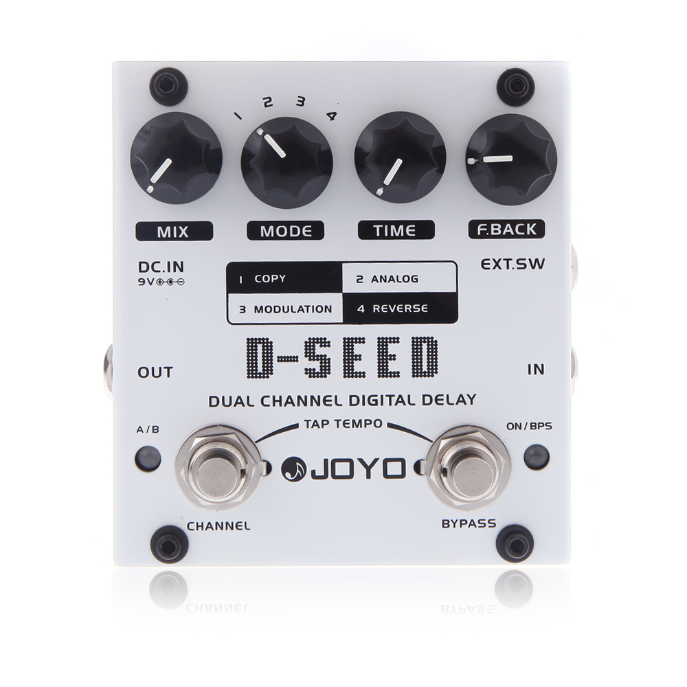 joyo d seed dual channel digital delay guitar effect pedal with four modes. Black Bedroom Furniture Sets. Home Design Ideas