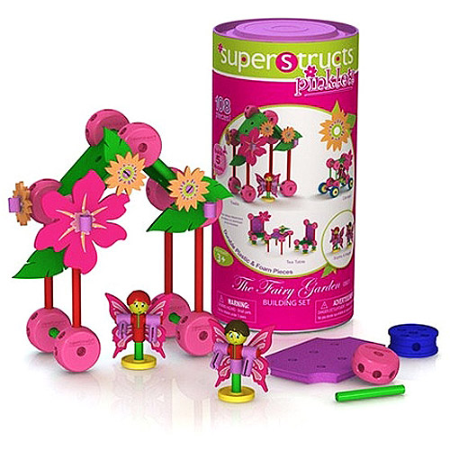 Superstructs Pinklets Fairy Garden Play Set