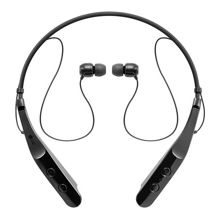 Headset Retail Box - LG TONE Triumph In-Ear Earbuds Headphones Bluetooth Wireless Stereo Neckband Headset with Built-In Remote and Mic, Black (New Open Box)