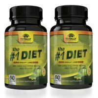 The #1 Diet Complex with Garcinia Cambogia, Green Coffee Bean and BCAAs Super Weight Loss (60 Caplets) - 2 Bottles