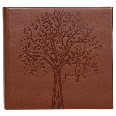 Pinnacle Faux Leather Family Tree Embossed Photo Album, Holds 120 - 4