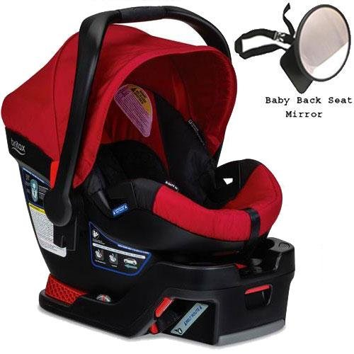 Britax - B-Safe 35 Infant Car Seat with Back Seat Mirror Bundle - Red