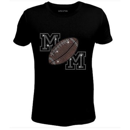 Bling Womens T Shirt Cool Mom Football