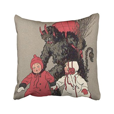 WinHome Primitive Vintage Chasing Children Monster Halloween Interesting Primitive Pillow Covers