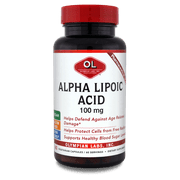 Olympian Labs Alpha Lipolic Acid Dietary Supplement, 100mg, 60 count
