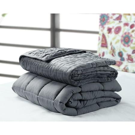 Harper Lane Weighted Blanket 20 lb w/Mink Quilted duvet cover FQ 60