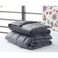 """Harper Lane Weighted Blanket 20 lb w/Mink Quilted duvet cover FQ 60""""x80"""""""