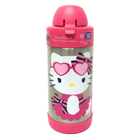 Thermos FUNtainer Hello Kitty Cupcake Bottle, Pink, 10 Ounces - Hello Kitty Themes