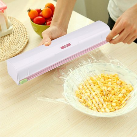 WALFRONT Plastic Food Wrap Dispenser Wrap Cutter Foil and Cling Film Cutte Storage Kitchen, Food Wrap Cutter, Wrap - Cling Film Cutter
