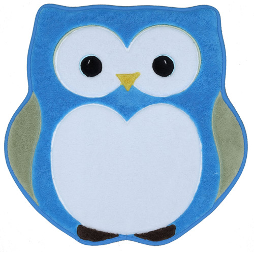 Mohawk Home Shaped Memory Foam Bath Rug, Owl