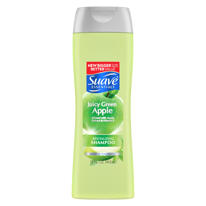 Suave Essentials 15 Fl. Oz. Juicy Green Apple Shampoo