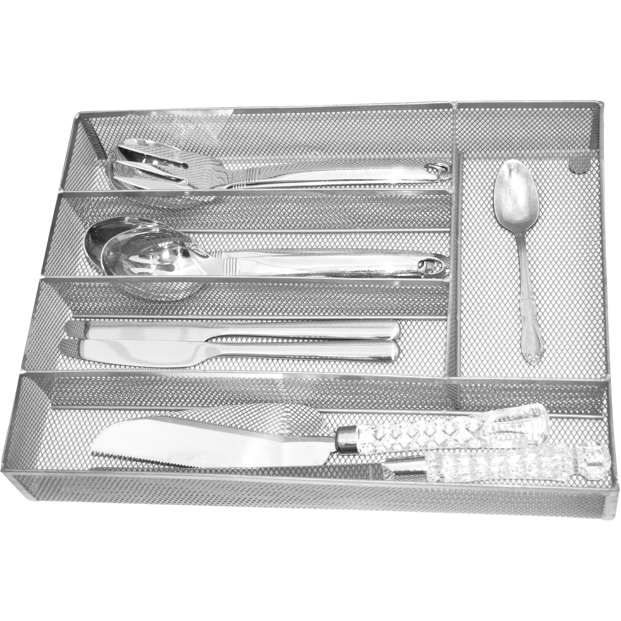 Mainstays 5-Compartment Mesh Cutlery Tray