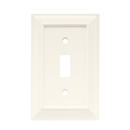 126333 Wood Architectural Single Toggle Switch Wall Plate / Switch Plate / Cover, Single Switch Wall Plate By Brainerd