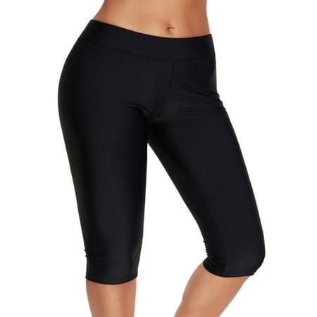 Women's Swim Shorts Plus Size Knee-Length Pants Swimwear Rash Guard Swimsuit Boardshorts Bike Sport Swim Bottoms