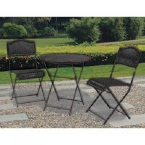 Worldwide Sourcing S30-480B-705 3-Piece Woven Bistro Set
