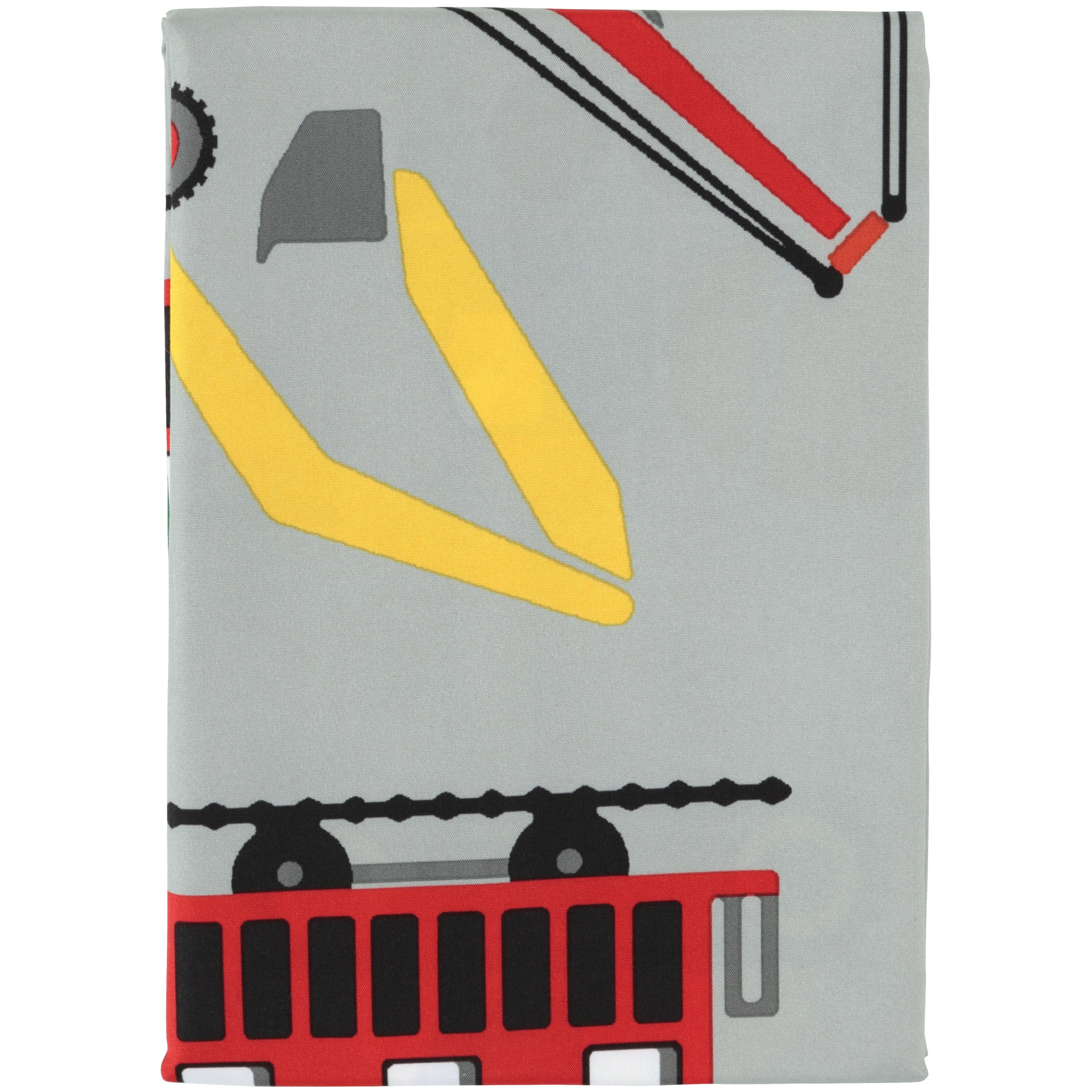 Mainstays™ Kids Transportation Grey Fabric Shower Curtain