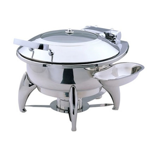 SMART Buffet Ware Large Round Chafing Dish with Glass Lid and Base