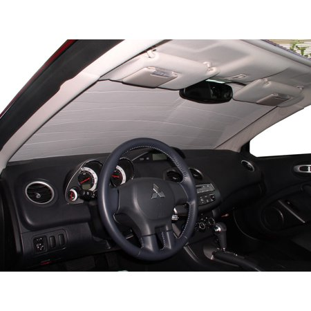 99 Mitsubishi Eclipse Convertible - The Original Windshield Sun Shade, Custom-Fit for Mitsubishi Eclipse Convertible 2006, 2007, 2008, 2009, 2010, 2011, 2012, Silver Series