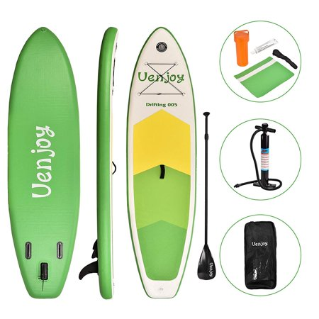 """Uenjoy Inflatable Sup W/ 3 Years Warranty 11'30""""x6"""" All Around Paddle Board, W/Full Accessories, Perfect for Yoga Fishing Touring"""