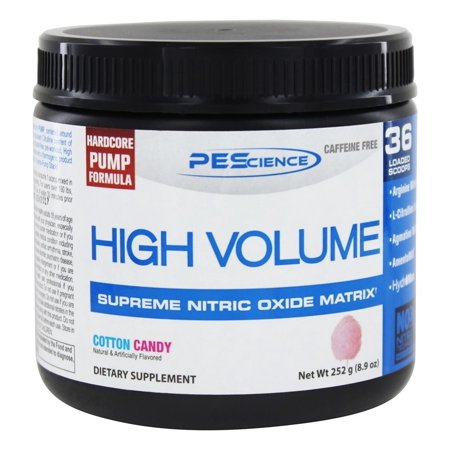 PEScience High Volume, Nitric Oxide Booster, Cotton Candy, 18 (Best Nitric Oxide Booster)