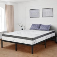GranRest 14'' Platform Bed with Wooden slat, Twin