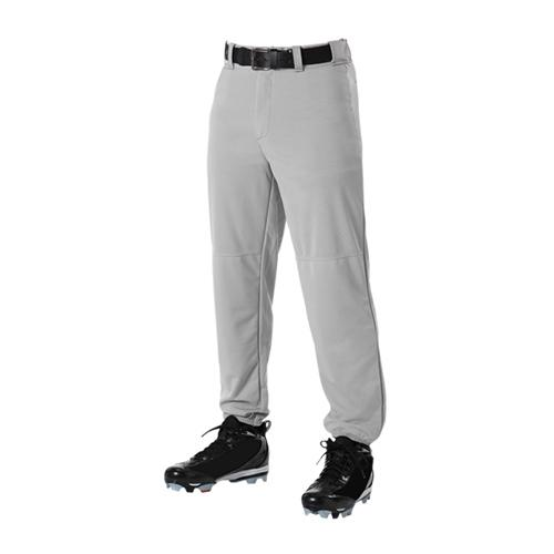 Belted Waist Baseball Pant Youth-Adult or Youth:Youth,Color:Gray,Size:SML by Alleson Athletic