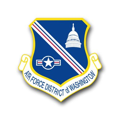 3.8 Inch Air Force District Of Columbia Vinyl Transfer (Columbia Air)