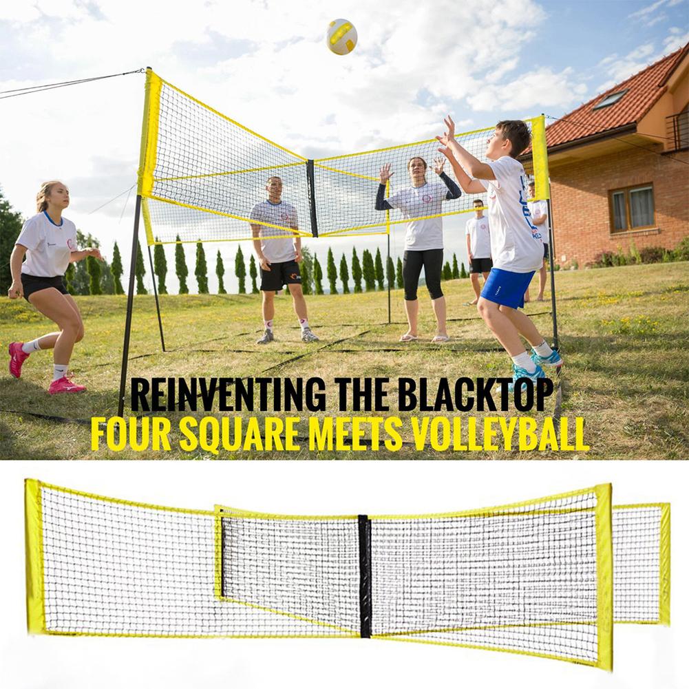 Volleyball Net Four Sided Pe Durable Cross Volley Ball Training Net Sports Badminton Game Net Walmart Com Walmart Com