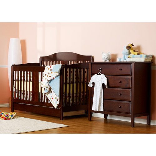 DaVinci Richmond 4-in-1 Fixed-Side Convertible Crib with Toddler Rail, Espresso
