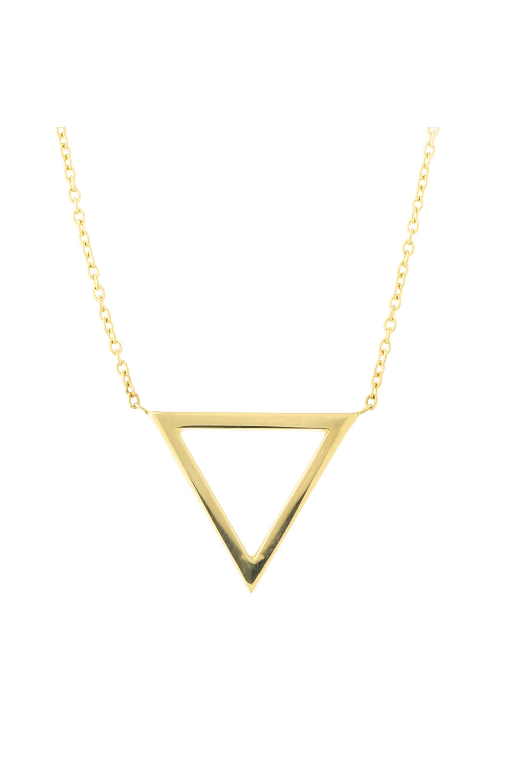 14K Yellow Gold Yatch Pendant on an Adjustable 14K Yellow Gold Chain Necklace